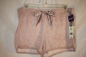 NWT-Green-Tea-Women-039-s-Shorts-Velour-Rose-size-XXL