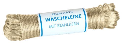 50m Wäscheleine mit Stahlkern extra robust Seil Schnur Kunststoff-Ummantelt 4mm