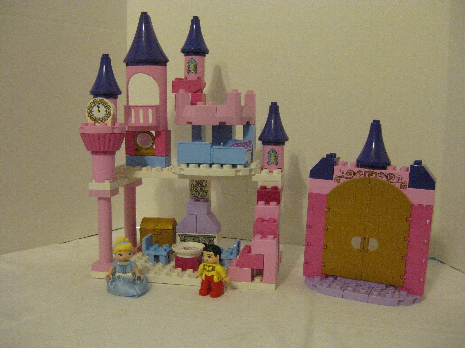 Duplo Legos Pastel Cinderella Castle with Figures 6154 golden Gates Complete NM
