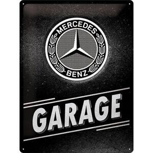 Mercedes-Benz-Garage-Werkstatt-Nostalgie-Blechschild-40-cm-NEU-shield