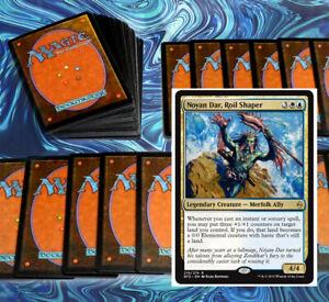 mtg-BLUE-WHITE-AZORIUS-NOYAN-DAR-COMMANDER-EDH-DECK-Magic-the-Gathering-rares