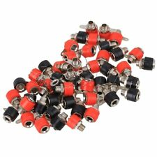 Red 4mm Audio Amplifier Terminal Insulated Binding Post Banana Plug Jack Socket Pack of 10 BQLZR Black