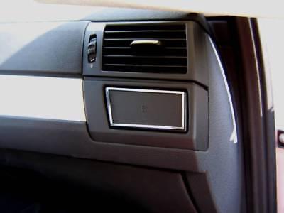 Edelstahl poliert D BMW X3 E83 Chrom Rahmen für Schalter Bedienteil