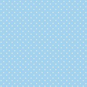 Dot bieses 18 Mm-azul pálido-tejido de algodón doblado Trim