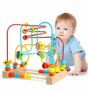 Wooden-Educational-Circle-Bead-Maze-Cube-Roller-Coaster-Toy-for-Babies-Toddlers