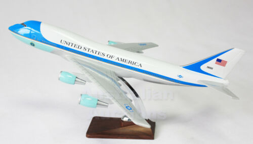 AIR FORCE ONE 1 LARGE PLANE MODEL ON STAND APX 1.5/'  SOLID RESIN