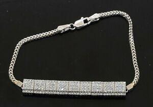 14K-white-gold-amazing-1-93CTW-VS-diamond-cluster-multi-center-link-bracelet