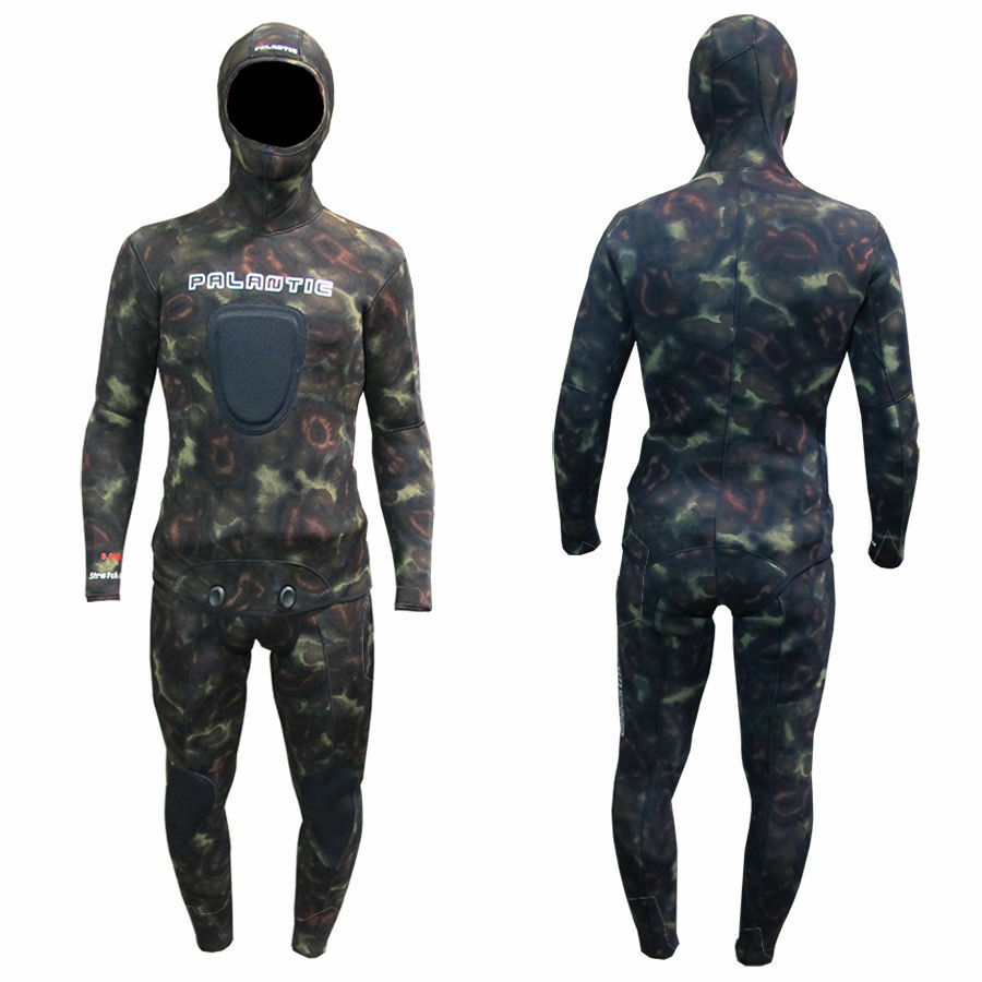 Palantic Spearfishing 5mm  Neoprene Camouflage Stretch Max Farmer John Wetsuit  best quality best price