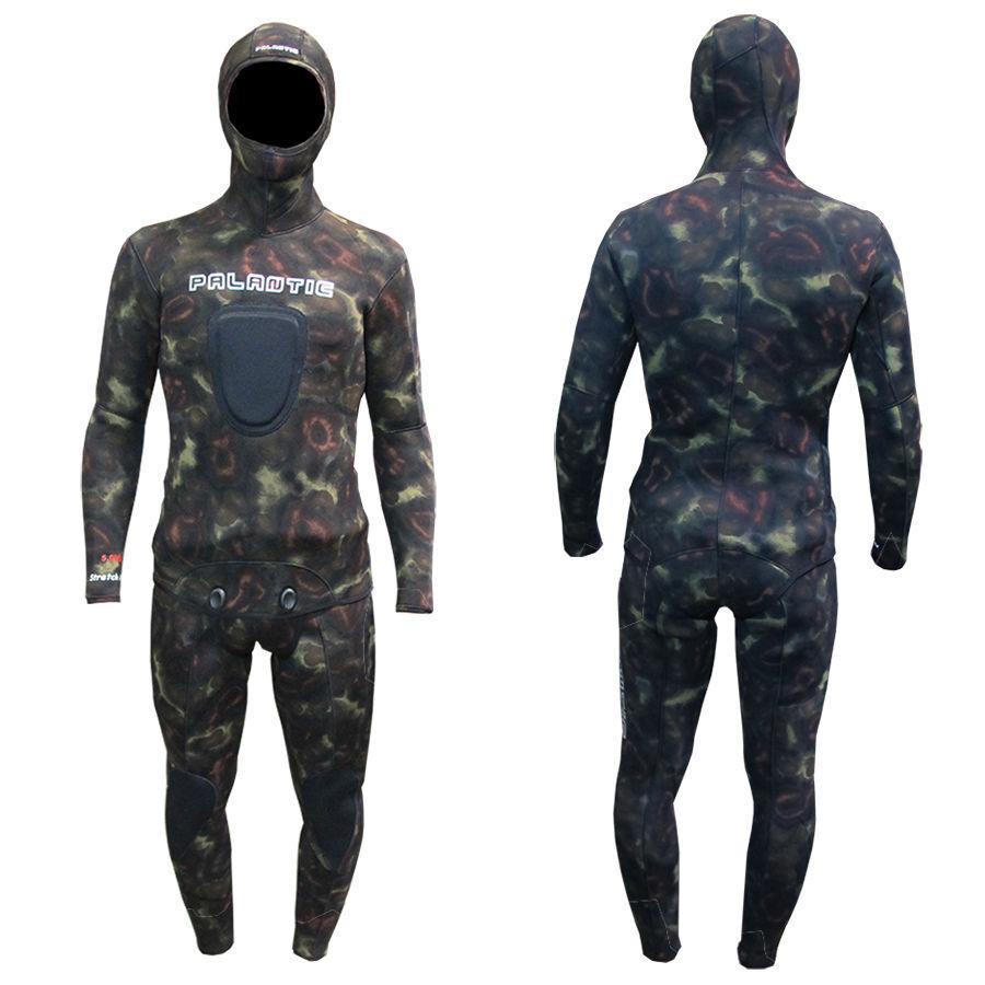 Palantic Spearfishing 5mm Neoprene  Camouflage Stretch Max Farmer John Wetsuit  credit guarantee