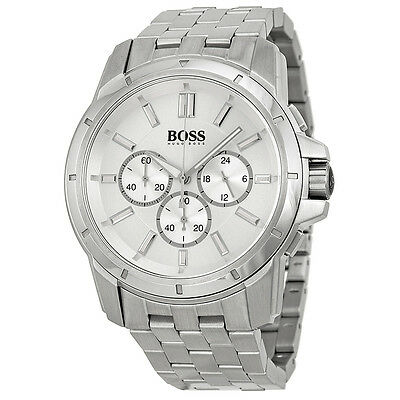 Hugo Boss Chronograph Silver Dial Stainless Steel Mens Watch 1512929