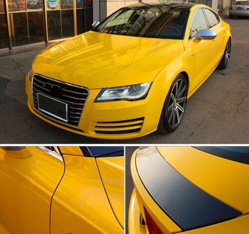 High Gloss Vinyl Car Paint Glossy Film Sheet Wrap Sticker Air//Bubble Free Yellow