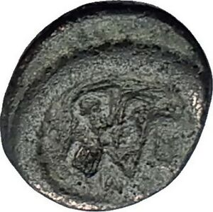 LEO-I-the-Thracian-457AD-Monogram-Rare-Authentic-Ancient-Roman-AE4-Coin-i59652