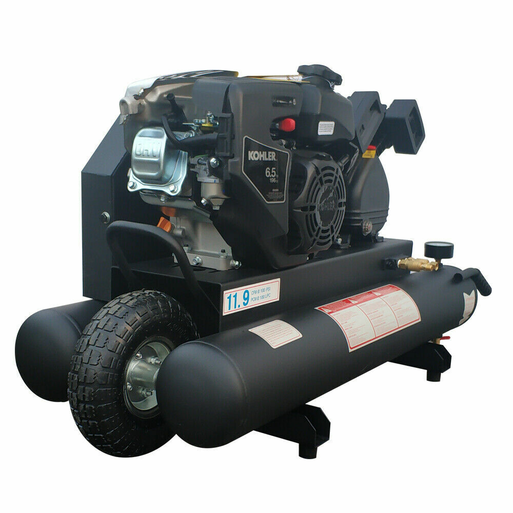 sell at a low price Gas Engine Piston Air Compressor  9 Gal / 35L 6.5 HP. Buy it now for 497.26