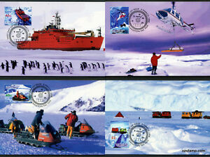 1998-AAT-Antarctic-Transport-Maxi-Cards-Prepaid-Postcard-Maxicards-Stamps