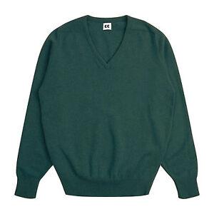 Community-Clothing-Women-039-s-Light-Green-Wool-V-Neck-Jumper