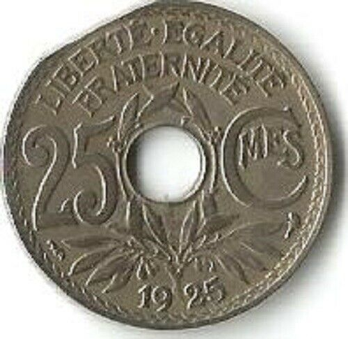 Agressif Fautée 25 C Lindauer 1925. Flan Clipé. Gadoury Em 221. Rare+++.