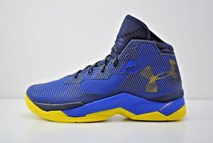 0521cac77d68 Under Armour UA Curry 2.5 Basketball Shoes Size 10.5 Blue Yellow ...