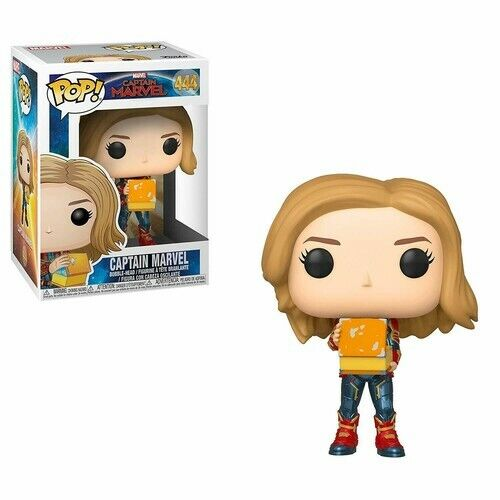 Captain Marvel - Captain Marvel Holding Lunchbox - Funko Pop! M (2019, Toy NEUF)