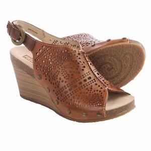 Pikolinos-Benissa-Wedge-Leather-Brandy-Women-039-s-Sandals-Sz-41-10-5-11-M-NEW