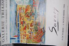 Robert SAVARY La Plage de Port Grimaud Affiche Expo Gal.Triade Barbizon en 1988