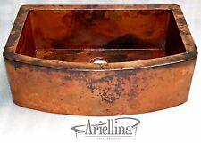 Ariellina Farmhouse 14 Gauge Copper Kitchen Sink Lifetime Warranty New AC1832 NF