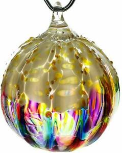 Glass-Eye-Studio-RAINBOW-SPRINKLE-Hand-Blown-Art-Glass-Round-Christmas-Ornament