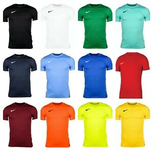Nike-Boys-Park-VII-T-Shirts-Sports-Football-Gym-Kids-Training-Top-DRI-Fit-Jersey