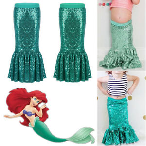 8fb8a322713d0 Toddler Girls Mermaid Fancy Dress Kids Party Cosplay Glittery Tail ...