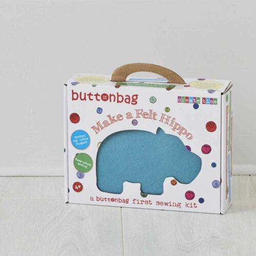 Kids Easy Sewing My First Hippo Learn to Sew Buttonbag Sewing Kits for Kids