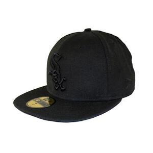 New-Era-Black-on-black-Chiwhi-SOX-Fitted-Cap-Hat-unisex-Colour-black-92112