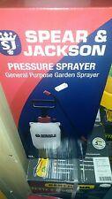 NUOVO Spear and Jackson POMPA Spruzzatore per giardino d'azione delle piante a pressione bottiglia spray 5 L