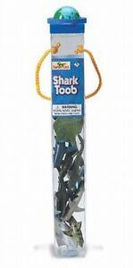 Haie-Sharks-Fisch-18-tlg-Figuren-Sammler-Set-in-Roehre-Toob-Tube