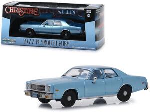 CHRISTINE-Movie-1977-Plymouth-Fury-Die-cast-Car-1-43-Greenlight-5-inch-Blue
