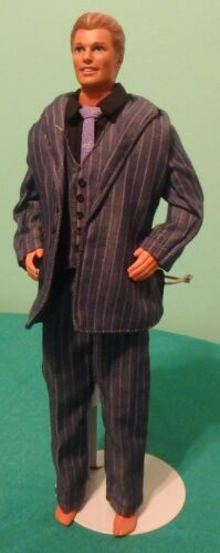 5 pc Dark Blue Gray Pant Set with Lavender Stripes for Ken Barbie Doll KNPS16