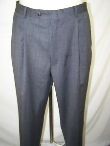 38x30-Mens-Size-Gray-Pleated-Front-4-Pocket-Business-Work-Dress-Pants
