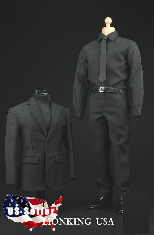 1   6 männer anzug, schuhe voll für heiße spielzeug s.h.i.e.l.d. agent phicen männliche figur