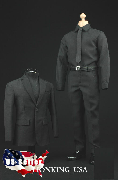 1 6 Men Suit shoes Full Set For Hot Toys S.H.I.E.L.D. Agent Phicen Male Figure