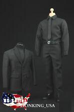 1/6 Men Suit Shoes Full Set For Hot Toys S.H.I.E.L.D. Agent Phicen Male Figure