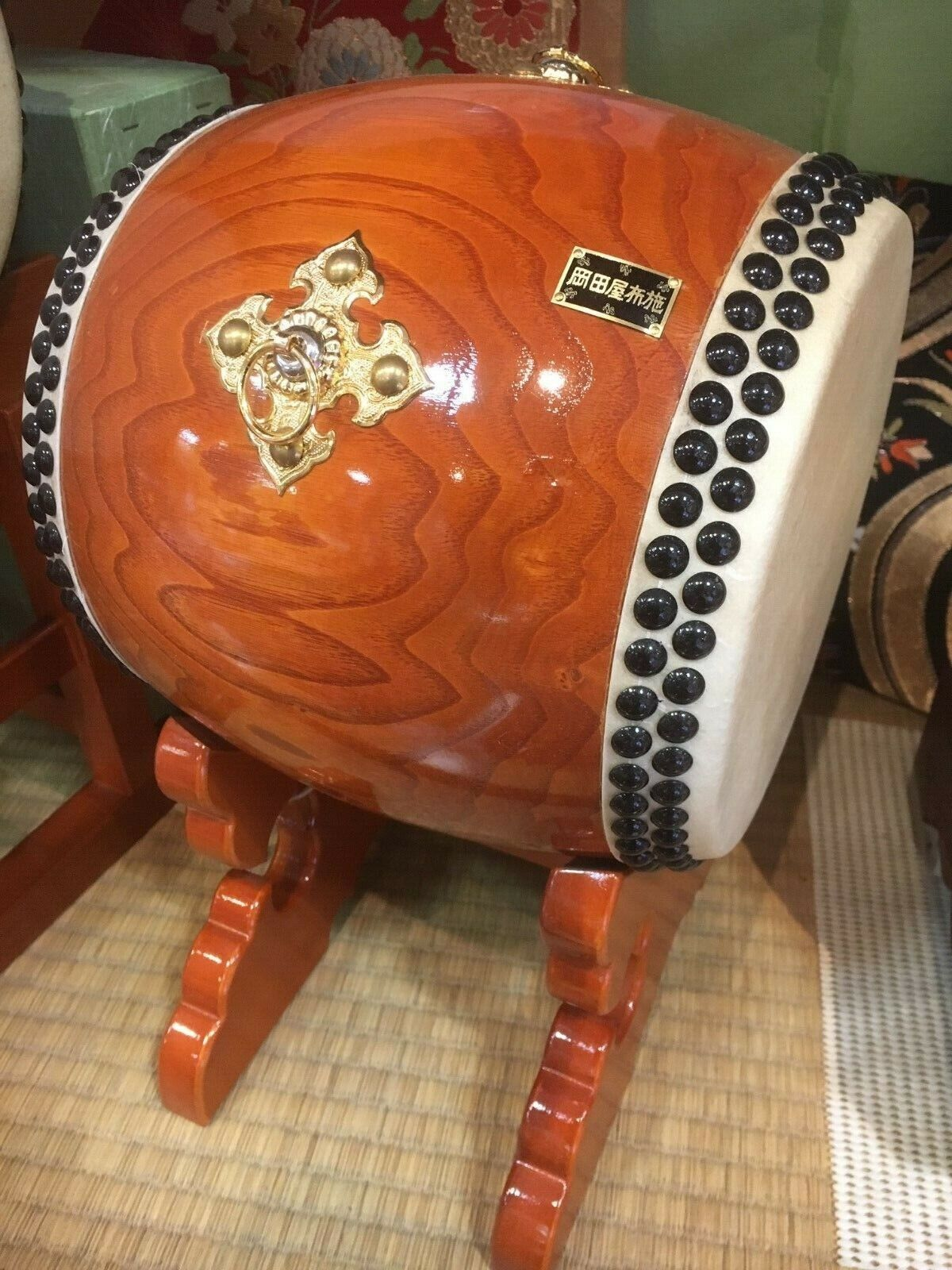 New Japanese Drum Taiko Traditional Festival Instrument Small High Quality Stand
