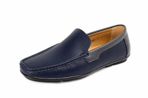 Mens Boat Slip On Deck Casual Shoes Smart Leather Loafers Designer Dress Formal
