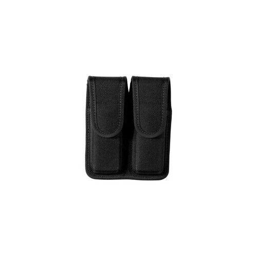 Size 4 Bianchi 18473 Black Accumold Double MAG Magazine Pouch w// Hidden Snaps
