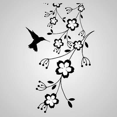 vintage hummingbird stencil /& template craft,fabric,glass,furniture,wall art A0