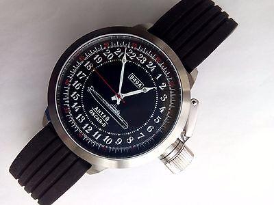 Russian 24-Hour Watch Submarine ANTEY (OSCAR II) Black 52 mm