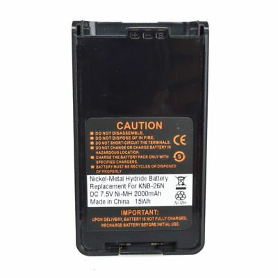 2000mAh NiMH Battery for KENWOOD TK 2160 TK-2170 TK-3160 TK-3170 KNB-25A KNB-26N