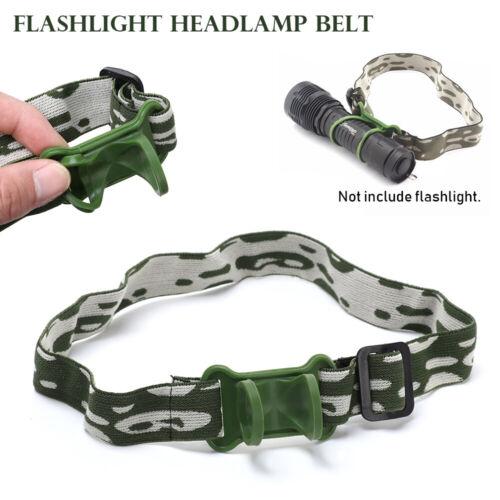 Headlight Mount Holder Flashlight Lamp Torch Headlamp Headband head Belt Strap