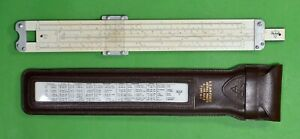 Pickett-U-S-Air-Force-Aerial-Photo-Slide-Rule-Type-A-1-520-Leather-Case-VTG