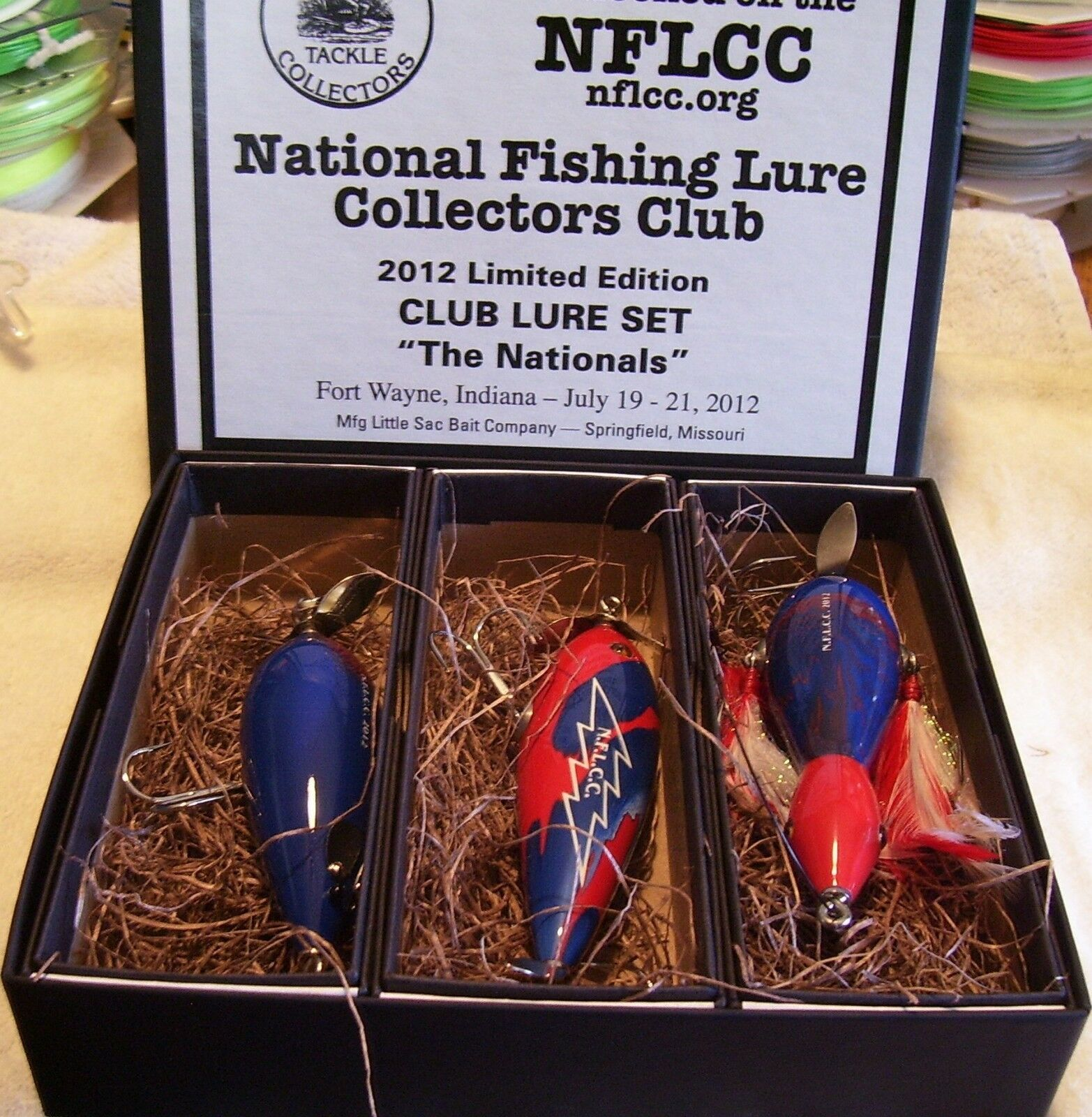 RARE NFLCC 2012 LIMITED EDITION SET OF LURES 01 04 19 FORT WAYNE SHOW NEAR MINT