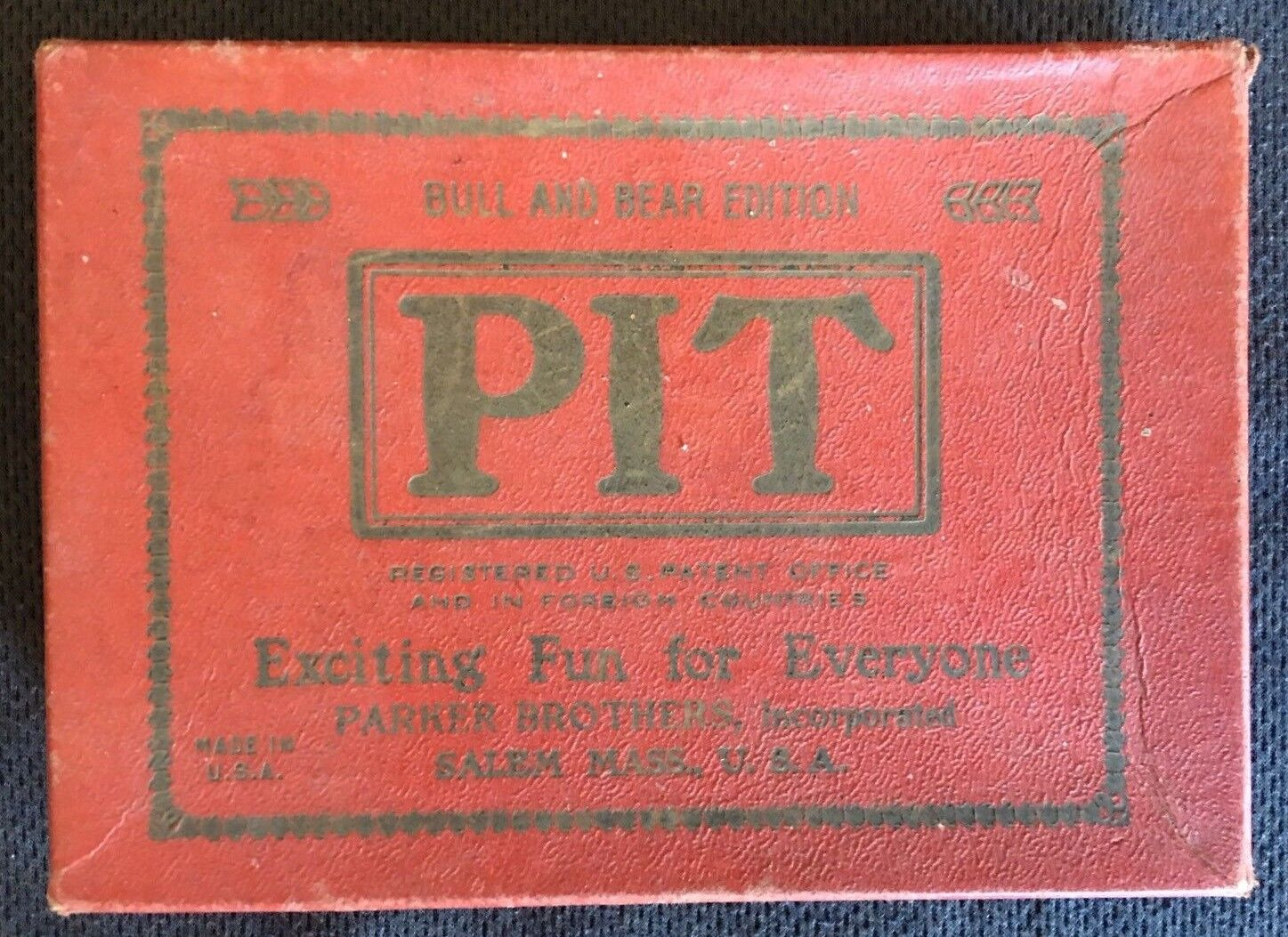 PIT: Bull And Bear Edition VINTAGE   Parker Brothers, 1919