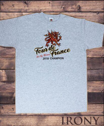 Mens T-shirt Tour de France Champions 2018 Welsh Dragon Print TS1485