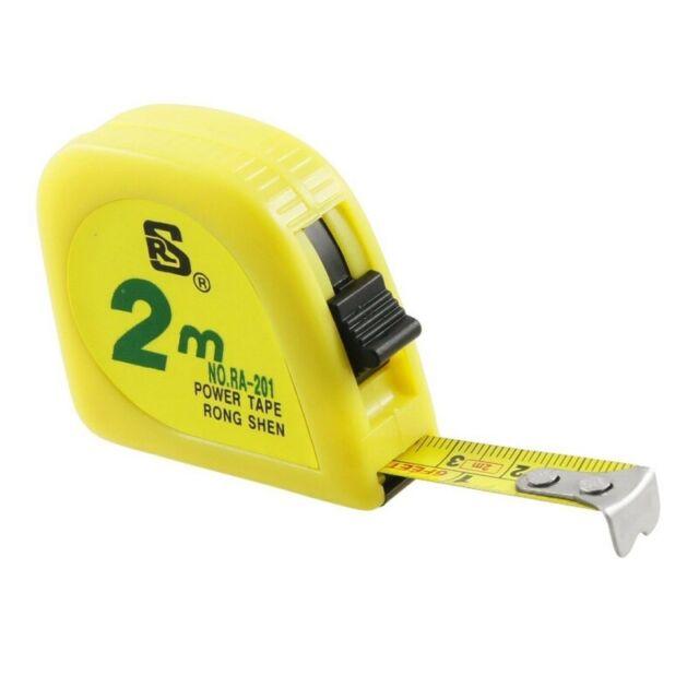 1X(yellow 2M 6FT tape meter measuring tape scale metal capsule X9P5)